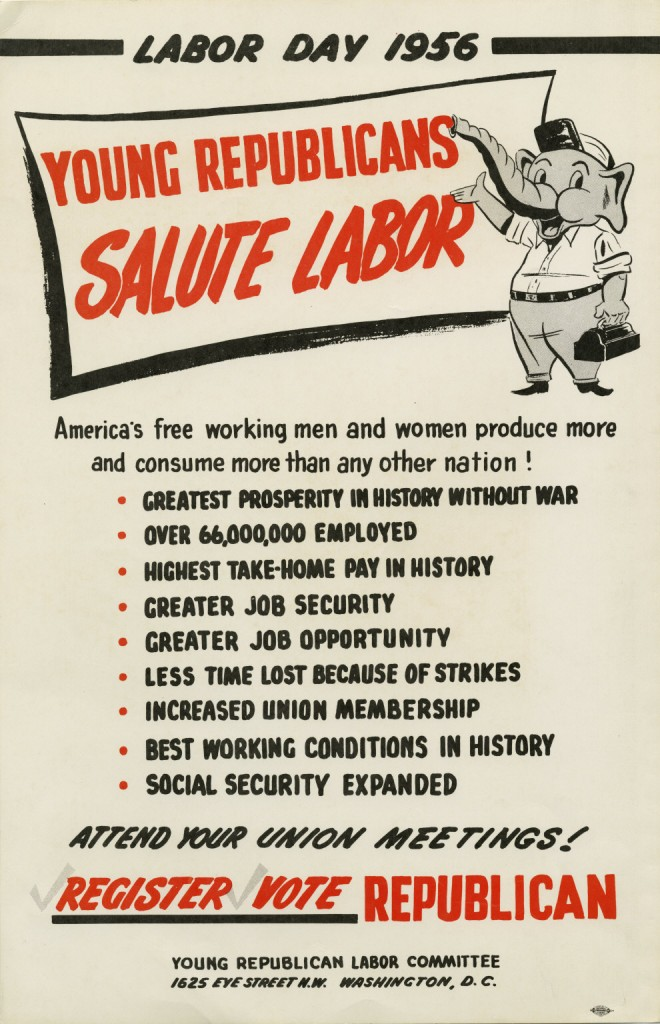 Young Republicans Poster Labor Day 1956