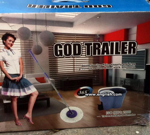 "Box for ""God Trailer"" spinning mop"